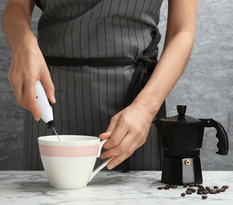 Use a handheld milk frother