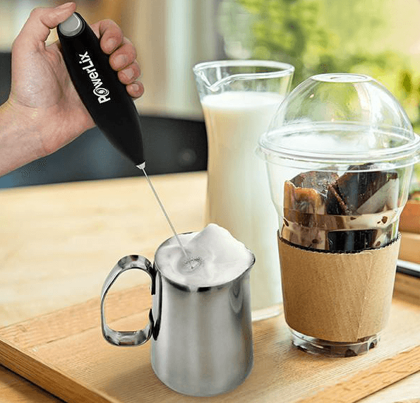 Use PowerLix milk frother