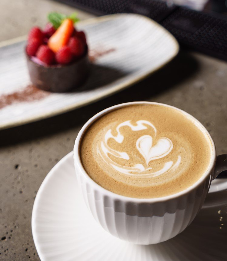 Cappuccino with milk crema