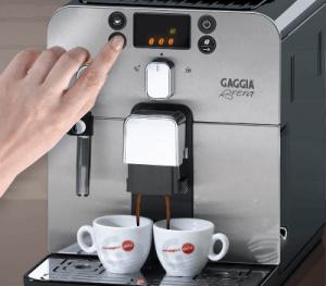 Gaggia Brera dispenser on 2 cups