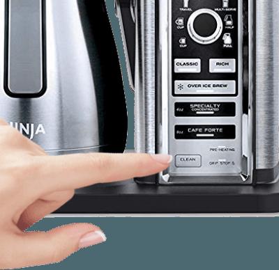 Ninja CF097 clean button